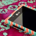 LG Splendor/ Venice - Mint Chevron MPERO SNAPZ - Rubberized Case Cover Angle 4