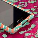 LG Splendor/ Venice - Mint Chevron MPERO SNAPZ - Rubberized Case Cover Angle 5