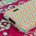 LG Splendor/ Venice - Mint Chevron MPERO SNAPZ - Rubberized Case Cover Angle 7