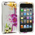 Apple iPod Touch 4th Generation Purple Flower Chain Design Crystal Hard Case Cover Angle 1