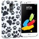 LG G Stylo 2 LS775 Dog Paw TPU Design Soft Rubber Case Cover Angle 1