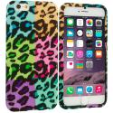 Apple iPhone 6 Plus Splicing Grid Leopard TPU Design Soft Rubber Case Cover Angle 1