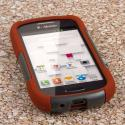 Samsung Galaxy Exhibit - Sandstone / Gray MPERO IMPACT X - Kickstand Case Angle 2