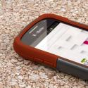 Samsung Galaxy Exhibit - Sandstone / Gray MPERO IMPACT X - Kickstand Case Angle 5