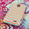 AT&T Z998 - Mint Chevron MPERO SNAPZ - Rubberized Case Cover Angle 3