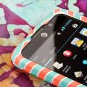 AT&T Z998 - Mint Chevron MPERO SNAPZ - Rubberized Case Cover Angle 4