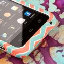 AT&T Z998 - Mint Chevron MPERO SNAPZ - Rubberized Case Cover Angle 5