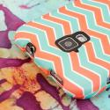 AT&T Z998 - Mint Chevron MPERO SNAPZ - Rubberized Case Cover Angle 6
