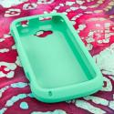 ZTE Savvy - Mint Green MPERO SNAPZ - Rubberized Case Cover Angle 2