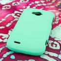 ZTE Savvy - Mint Green MPERO SNAPZ - Rubberized Case Cover Angle 3