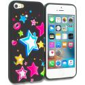 Apple iPhone 5/5S/SE Rainbow Star TPU Design Soft Rubber Case Cover Angle 1