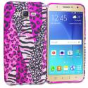 Samsung Galaxy J7 Bowknot Zebra TPU Design Soft Rubber Case Cover Angle 1