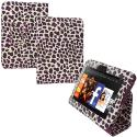 Amazon Kindle Fire HD 7 Purple Leopard Folio Pouch Case Cover Stand Angle 1