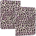 Amazon Kindle Fire HD 7 Purple Leopard Folio Pouch Case Cover Stand Angle 2