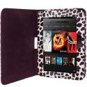 Amazon Kindle Fire HD 7 Purple Leopard Folio Pouch Case Cover Stand Angle 4