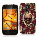 ZTE Force N9100 Gorgeous Skull Hard Rubberized Design Case Cover Angle 1
