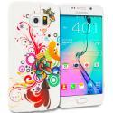 Samsung Galaxy S6 Edge Autumn Flower TPU Design Soft Rubber Case Cover Angle 1