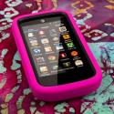 ZTE Radiant / Sonata 4G - Hot Pink MPERO IMPACT XL - Kickstand Case Cover Angle 2