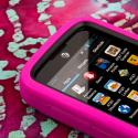 ZTE Radiant / Sonata 4G - Hot Pink MPERO IMPACT XL - Kickstand Case Cover Angle 5