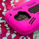 ZTE Radiant / Sonata 4G - Hot Pink MPERO IMPACT XL - Kickstand Case Cover Angle 6