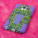 Samsung Galaxy Note 4 - Purple Rainbow Leopard MPERO IMPACT X - Stand Case Angle 3