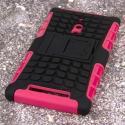 Nokia Lumia 830 - Hot Pink MPERO IMPACT SR - Kickstand Case Cover Angle 3