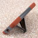 LG G Vista - Sandstone / Gray MPERO IMPACT X - Kickstand Case Cover Angle 4