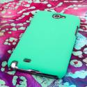 Samsung Galaxy Note 2 - Mint MPERO SNAPZ - Rubberized Case Cover Angle 3