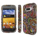 ZTE Imperial - Black Paisley MPERO SNAPZ - Rubberized Case Cover Angle 1