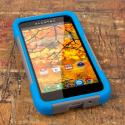 Alcatel OneTouch Fierce- GRAY / BLUE MPERO IMPACT X - Kickstand Case Cover Angle 2
