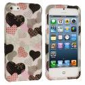 Apple iPhone 5/5S/SE Love desert on Sliver Hard Rubberized Design Case Cover Angle 1