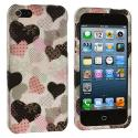 Apple iPhone 5/5S/SE Love desert on Sliver Hard Rubberized Design Case Cover Angle 2
