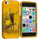 Apple iPhone 5C Deer Hard Rubberized Design Case Cover Angle 1
