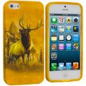 Apple iPhone 5/5S/SE Deer TPU Design Soft Case Cover Angle 1