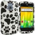 ZTE Radiant Dog Paw 2D Hard Rubberized Design Case Cover Angle 1