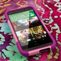HTC One M8 - Pink MPERO IMPACT X - Kickstand Case Cover Angle 2