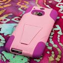HTC One M8 - Pink MPERO IMPACT X - Kickstand Case Cover Angle 3