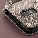 ZTE Warp 4G - Black Lace MPERO FLEX FLIP Wallet Case Cover Angle 7