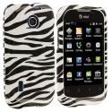 Huawei Fusion U8652 Black / White Zebra Design Crystal Hard Case Cover Angle 1
