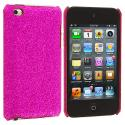 Apple iPod Touch 4th Generation Hot Pink Glitter Case Cover Angle 1