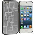 Apple iPhone 5/5S/SE Silver Metal Grid Aluminum Metal Hard Case Cover Angle 3