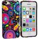 Apple iPhone 5C Rainbow Fish TPU Design Soft Case Cover Angle 1