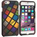 Apple iPhone 6 6S (4.7) Color Ball 2D Hard Rubberized Design Case Cover Angle 1