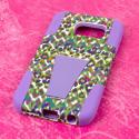Samsung Galaxy S6 Edge - Purple Rainbow Leopard MPERO IMPACT X - Stand Case Angle 3