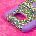 Samsung Galaxy S6 Edge - Purple Rainbow Leopard MPERO IMPACT X - Stand Case Angle 6