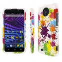 ZTE Vital MPERO Full Protection Paint Splatter White Case Cover Angle 1