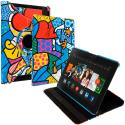 Amazon Kindle Fire HDX 8.9 Graffiti 2 360 Rotating Leather Pouch Case Cover Stand Angle 1
