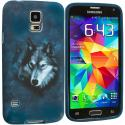 Samsung Galaxy S5 Wolf TPU Design Soft Case Cover Angle 2