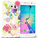 Samsung Galaxy S6 Flower Rainbow Colorful TPU Design Soft Rubber Case Cover Angle 1