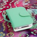 BlackBerry Curve 9310 / 9315 - Mint MPERO FLEX FLIP Wallet Case Cover Angle 2